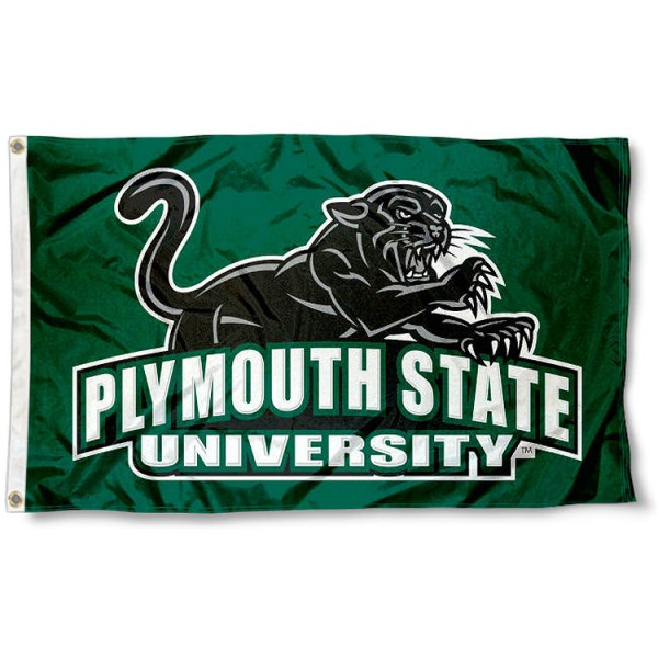 Plymouth State Panthers Flag measures 3x5 feet, is made of 100% polyester, offers quadruple stitched flyends, has two metal grommets, and offers screen printed NCAA team logos and insignias. Our Plymouth State Panthers Flag is officially licensed by the selected university and NCAA.