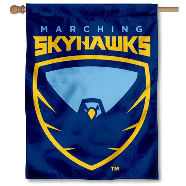 Point University Skyhawks House Flag is a vertical house flag which measures 30x40 inches, is made of 2 ply 100% polyester, offers screen printed NCAA team insignias, and has a top pole sleeve to hang vertically. Our Point University Skyhawks House Flag is officially licensed by the selected university and the NCAA.