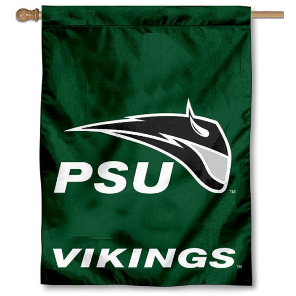 Portland State Vikings Banner Flag is a vertical house flag which measures 30x40 inches, is made of 2 ply 100% polyester, offers dye sublimated NCAA team insignias, and has a top pole sleeve to hang vertically. Our Portland State Vikings Banner Flag is officially licensed by the selected university and the NCAA.