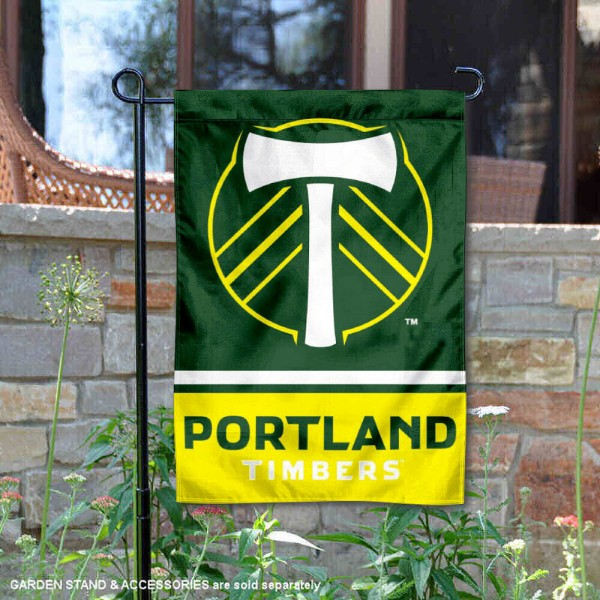 Portland Timbers Garden Flag is 12.5x18 inches in size, is made of 2-ply polyester, and has two sided screen printed logos and lettering. Available with Express Next Day Shipping, our Portland Timbers Garden Flag is MLS Genuine Merchandise and is double sided.