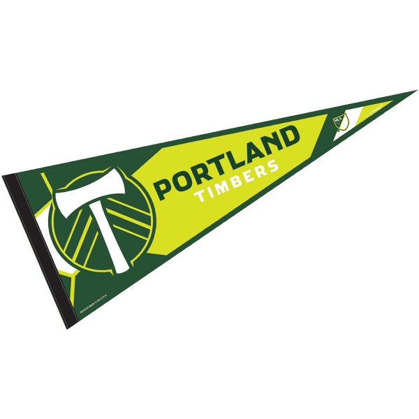 Portland Timbers Pennant is our Full Size MLS soccer team pennant which measures 12x30 inches, is made of felt, and is single sided screen printed. Our Portland Timbers Pennant is perfect for showing your MLS team allegiance in any room of the house and is MLS licensed.