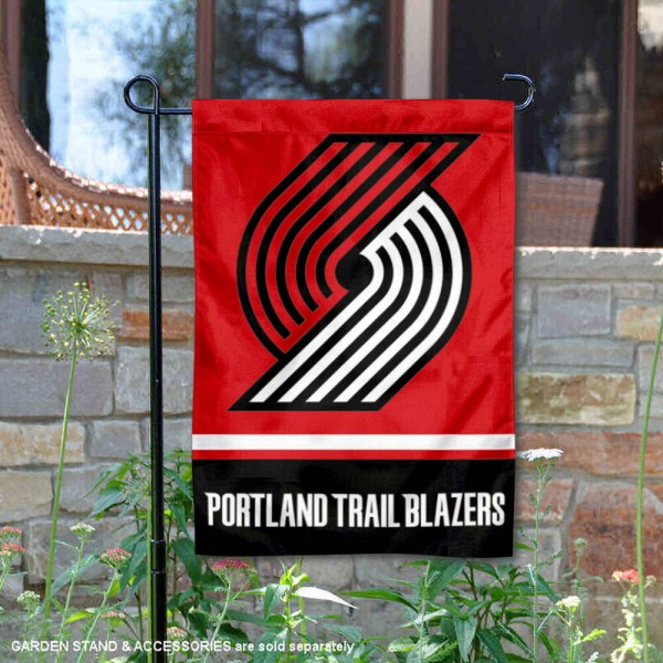 Portland Trailbazers Logo Double Sided Garden Flag is 12.5x18 inches in size, is made of 2-ply polyester, and has two sided screen printed logos and lettering. Available with Express Next Day Shipping, our Portland Trailbazers Logo Double Sided Garden Flag is NBA Genuine Merchandise and is double sided.