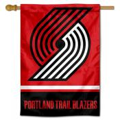 Portland Trailbazers Logo Double Sided House Flag
