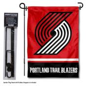 Portland Trailblazers Garden Flag and Flag Pole Stand