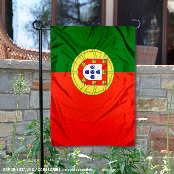 Portugal Double Sided Garden Flag is 13x18 inches in size, is made of 2-layer polyester, screen printed logos and lettering, and is viewable on both sides. Available same day shipping, our Portugal Double Sided Garden Flag is a great addition to your decorative garden flag selections.