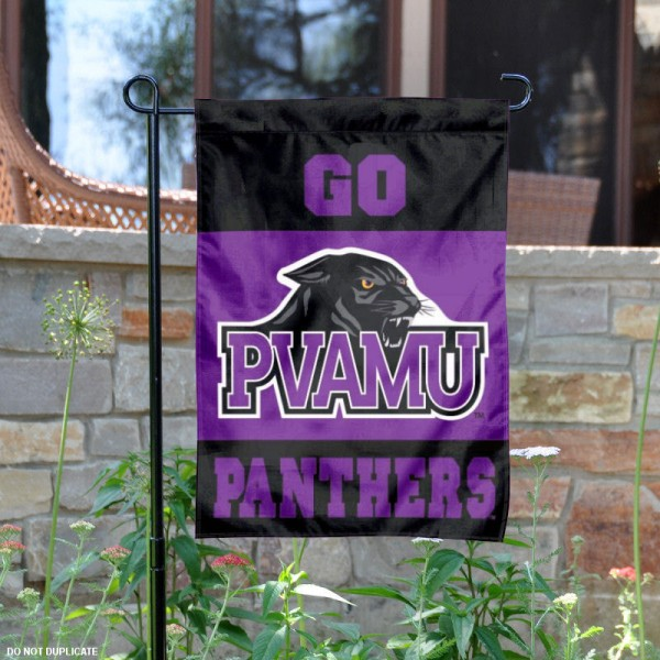 Prairie View A&M Garden Flag is 13x18 inches in size, is made of 2-layer polyester, screen printed Prairie View A&M University athletic logos and lettering. Available with Same Day Express Shipping, Our Prairie View A&M Garden Flag is officially licensed and approved by Prairie View A&M University and the NCAA.