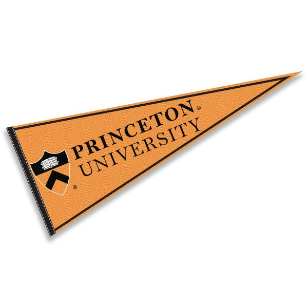 Princeton Felt Pennant consists of our full size pennant which measures 12x30 inches, constructed of felt, single sided imprinted, and offers a pennant stick sleeve. This Princeton Felt Pennant is officially licensed by the selected University and the NCAA.