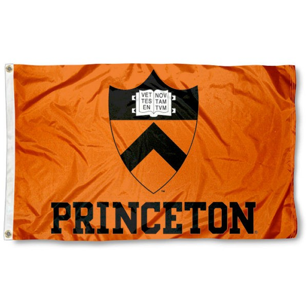 This Princeton Flag measures 3'x5', is made of 100% nylon, has quad-stitched sewn flyends, and has two-sided Princeton printed logos. Our Princeton Flag is officially licensed and all flags for Princeton are approved by the NCAA and Same Day UPS Express Shipping is available.