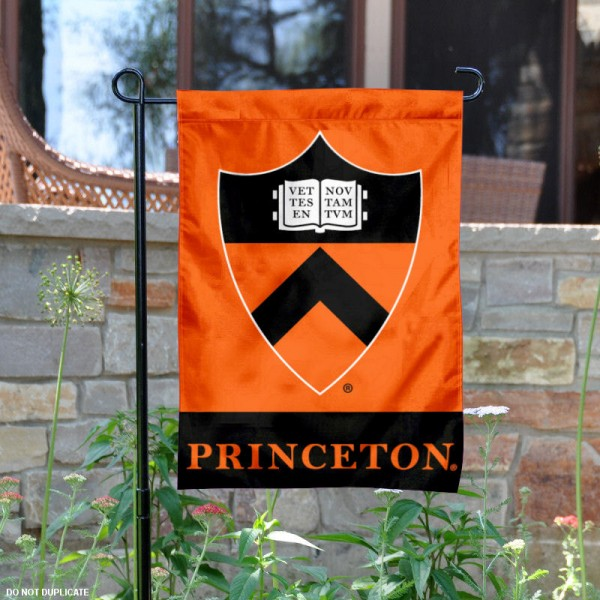 Princeton Tigers Shield Garden Flag is 13x18 inches in size, is made of 2-layer polyester, screen printed logos and lettering. Available with Same Day Express Shipping, Our Princeton Tigers Shield Garden Flag is officially licensed and approved by the College and the NCAA.