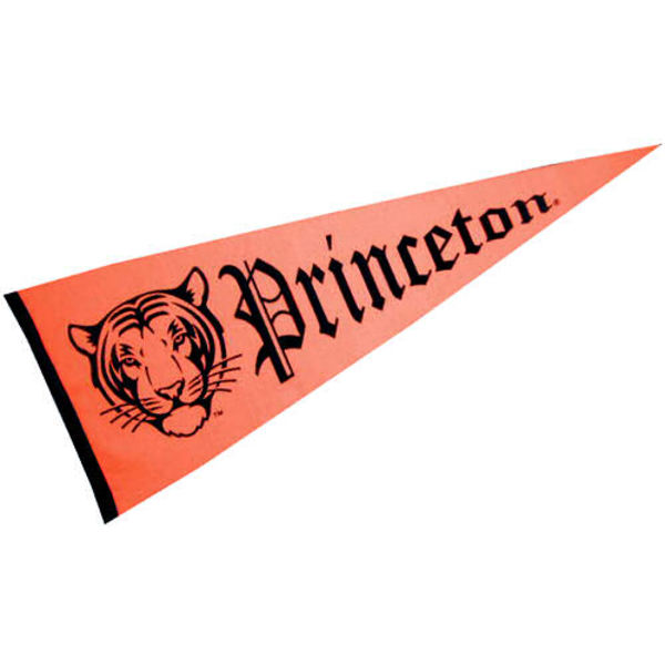 Princeton University Pennant measures 12x30 inches, is made of wool, and the School logos are printed with raised lettering. Our Princeton University Pennant is Officially Licensed and Approved by the University or Institution.
