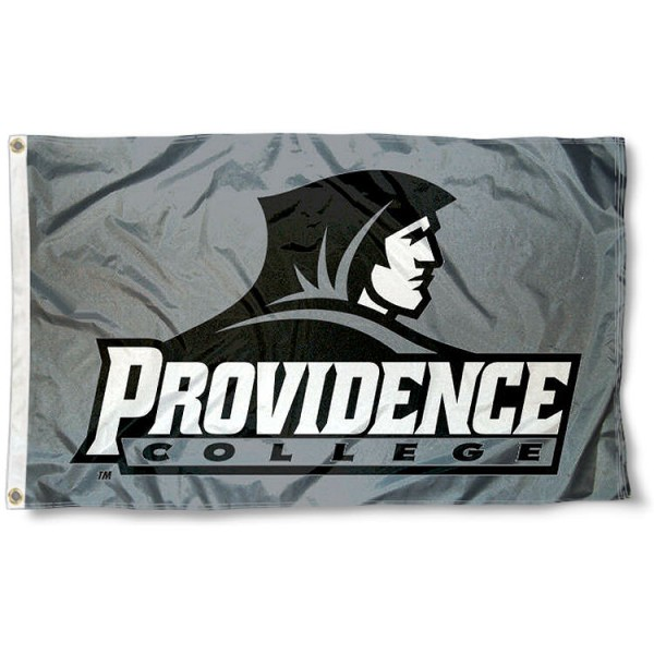 Providence College Silver 3'x5' Flag measures 3'x5', is made of 100% poly, has quadruple stitched sewing, two metal grommets, and has double sided Providence College logos. Our Providence College Silver 3'x5' Flag is officially licensed by Providence College and the NCAA.