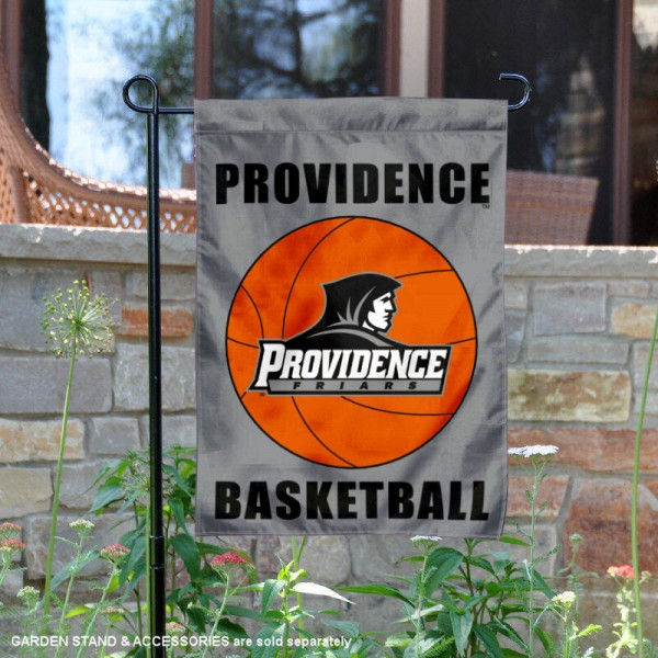 Providence Friars Basketball Garden Banner is 13x18 inches in size, is made of 2-layer polyester, screen printed athletic logos and lettering. Available with Same Day Express Shipping, Our Providence Friars Basketball Garden Banner is officially licensed and approved by the school and the NCAA.