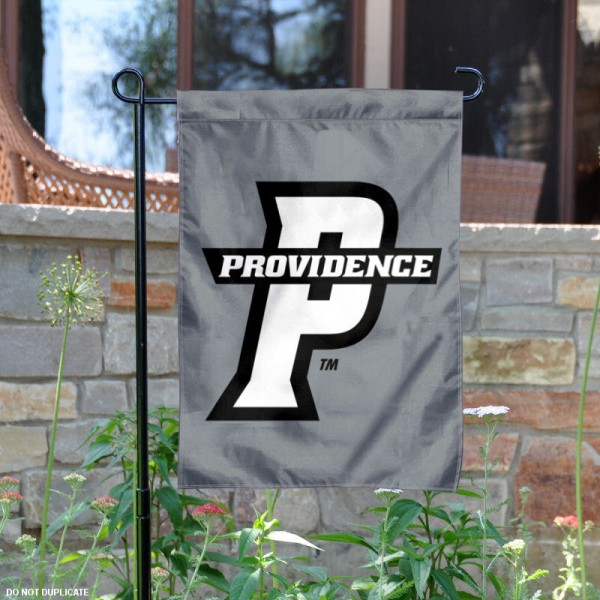 Providence Friars Silver Garden Flag is 13x18 inches in size, is made of 2-layer polyester, screen printed Providence College athletic logos and lettering. Available with Same Day Express Shipping, Our Providence Friars Silver Garden Flag is officially licensed and approved by Providence College and the NCAA.