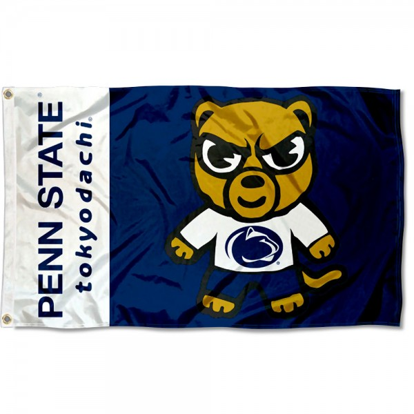 PSU Nittany Lions Kawaii Tokyo Dachi Yuru Kyara Flag measures 3x5 feet, is made of 100% polyester, offers quadruple stitched flyends, has two metal grommets, and offers screen printed NCAA team logos and insignias. Our PSU Nittany Lions Kawaii Tokyo Dachi Yuru Kyara Flag is officially licensed by the selected university and NCAA.