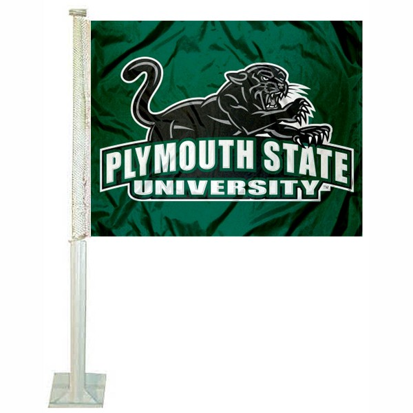 PSU Panthers Car Flag measures 12x15 inches, is constructed of sturdy 2 ply polyester, and has screen printed school logos which are readable and viewable correctly on both sides. PSU Panthers Car Flag is officially licensed by the NCAA and selected university.