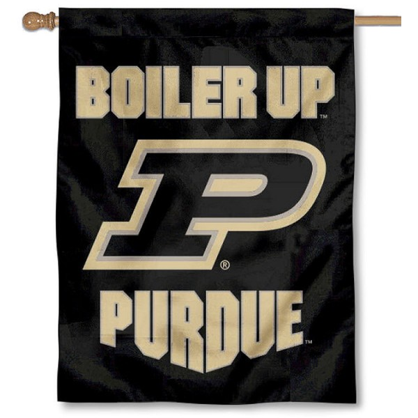 Purdue Boiler Up Logo House Flag is a vertical house flag which measures 30x40 inches, is made of 2 ply 100% polyester, offers screen printed NCAA team insignias, and has a top pole sleeve to hang vertically. Our Purdue Boiler Up Logo House Flag is officially licensed by the selected university and the NCAA.