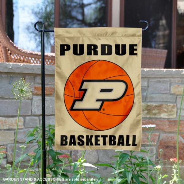 Purdue Boilermakers Basketball Garden Banner is 13x18 inches in size, is made of 2-layer polyester, screen printed athletic logos and lettering. Available with Same Day Express Shipping, Our Purdue Boilermakers Basketball Garden Banner is officially licensed and approved by the school and the NCAA.