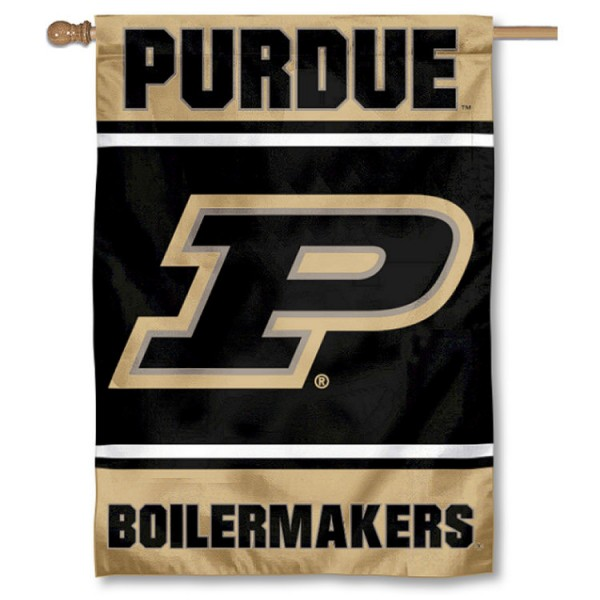 Purdue Boilermakers Double Sided Banner is a vertical house flag which measures 28x40 inches, is made of 2 ply 100% nylon, offers screen printed NCAA team insignias, and has a top pole sleeve to hang vertically. Our Purdue Boilermakers Double Sided Banner is officially licensed by the selected university and the NCAA.