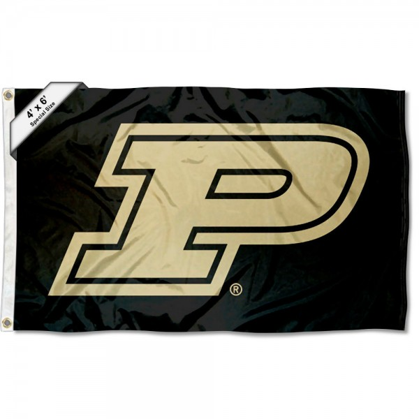 Purdue Boilermakers Large 4x6 Flag measures 4x6 feet, is made thick woven polyester, has quadruple stitched flyends, two metal grommets, and offers screen printed NCAA Purdue Boilermakers Large athletic logos and insignias. Our Purdue Boilermakers Large 4x6 Flag is officially licensed by Purdue Boilermakers and the NCAA.