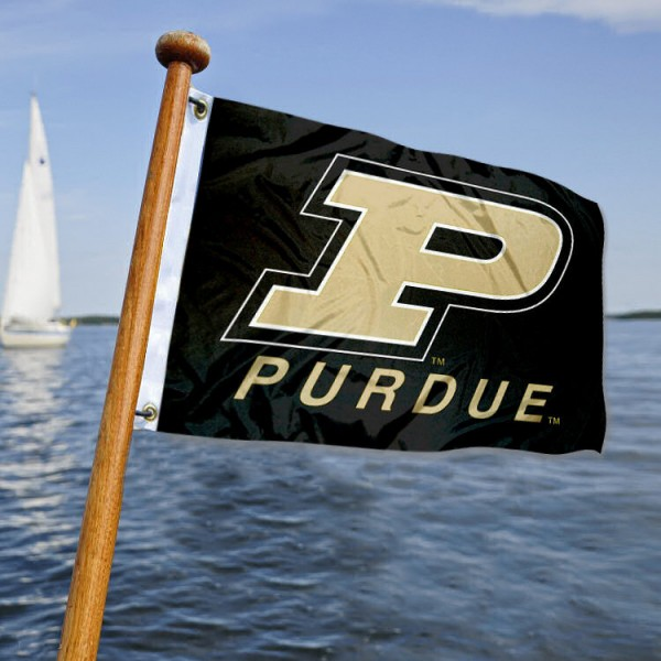 Purdue Boilermakers Nautical Flag measures 12x18 inches, is made of two-ply polyesters, offers quadruple stitched flyends for durability, has two metal grommets, and is viewable from both sides. Our Purdue Boilermakers Nautical Flag is officially licensed by the selected university and the NCAA and can be used as a motorcycle flag, golf cart flag, or ATV flag