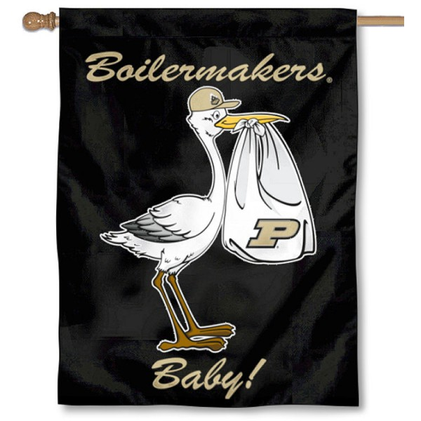 Purdue Boilermakers New Baby Flag measures 30x40 inches, is made of poly, has a top hanging sleeve, and offers dye sublimated Purdue Boilermakers logos. This Decorative Purdue Boilermakers New Baby House Flag is officially licensed by the NCAA.