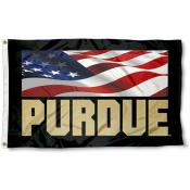 Purdue Boilermakers Patriotic Flag