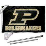 Purdue Boilermakers Slant P Flag Pole and Bracket Kit