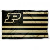Purdue Boilermakers Stripes Flag