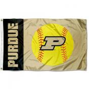 Purdue Boilermakers Womens Softball Flag