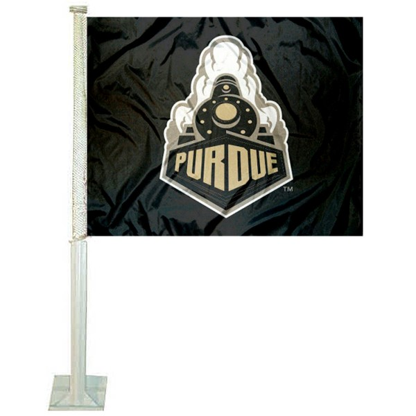 Purdue Car Window Flag measures 12x15 inches, is constructed of sturdy 2 ply polyester, and has screen printed school logos which are readable and viewable correctly on both sides. Purdue Car Window Flag is officially licensed by the NCAA and selected university.
