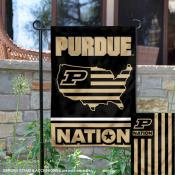 Purdue Garden Flag with USA Country Stars and Stripes