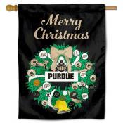 Purdue Happy Holidays Banner Flag