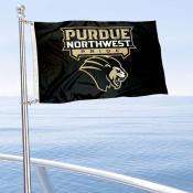 Purdue Northwest Pride Boat and Mini Flag