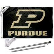 Purdue P Logo Flag Pole and Bracket Kit