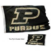 Purdue Slanted P Double Sided Flag