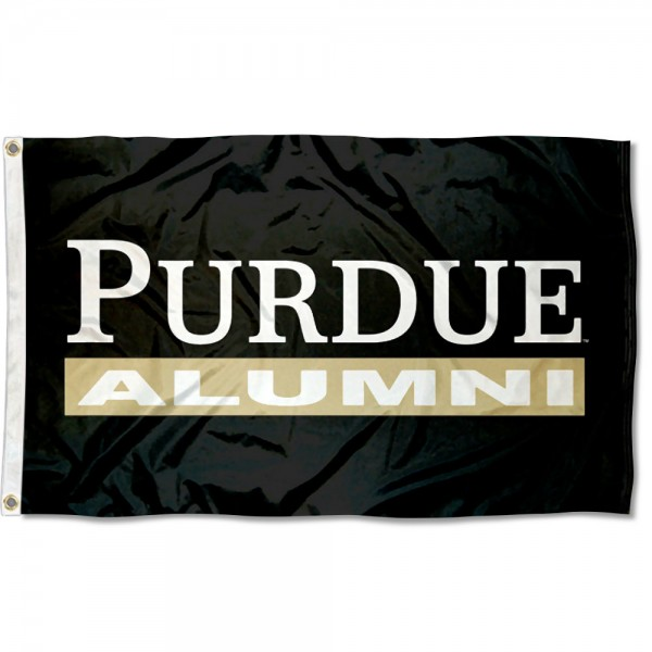 Purdue University Alumni Flag measures 3x5 feet, is made of 100% polyester, offers quadruple stitched flyends, has two metal grommets, and offers screen printed NCAA team logos and insignias. Our Purdue University Alumni Flag is officially licensed by the selected university and NCAA.