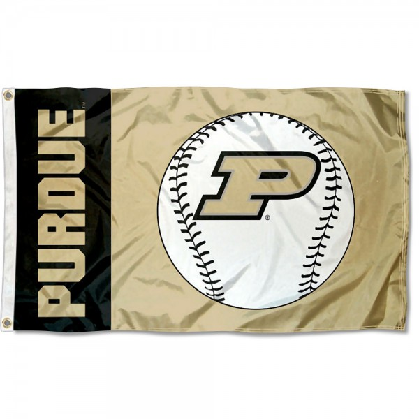 Purdue University Baseball Flag measures 3'x5', is made of 100% poly, has quadruple stitched sewing, two metal grommets, and has double sided Team University logos. Our Purdue University Baseball Flag is officially licensed by the selected university and the NCAA.