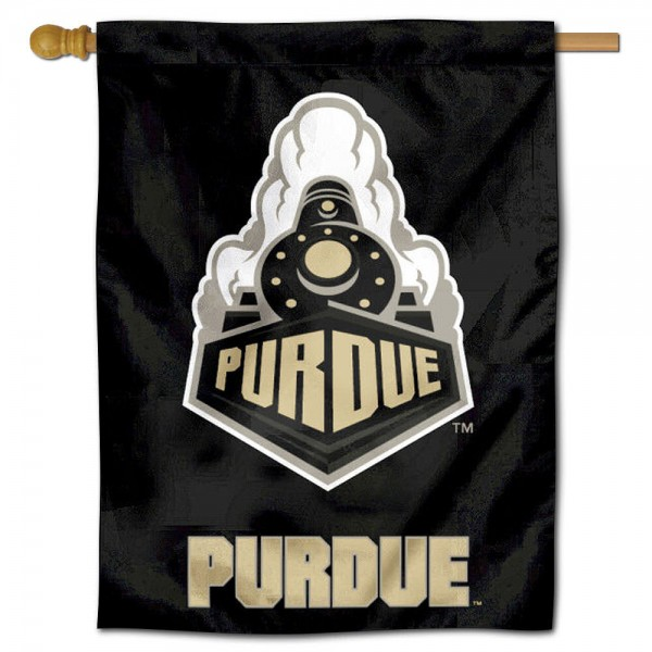 "Purdue University Decorative Flag is constructed of polyester material, is a vertical house flag, measures 30""x40"", offers screen printed athletic insignias, and has a top pole sleeve to hang vertically. Our Purdue University Decorative Flag is Officially Licensed by Purdue University and NCAA."