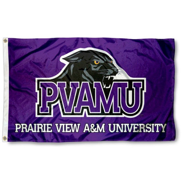 PVAMU Panthers 3x5 Flag is made of 100% nylon, offers quad stitched flyends, measures 3x5 feet, has two metal grommets, and is viewable from both side with the opposite side being a reverse image. Our PVAMU Panthers 3x5 Flag is officially licensed by the selected college and NCAA