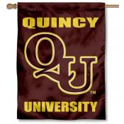 QU Hawks Banner Flag