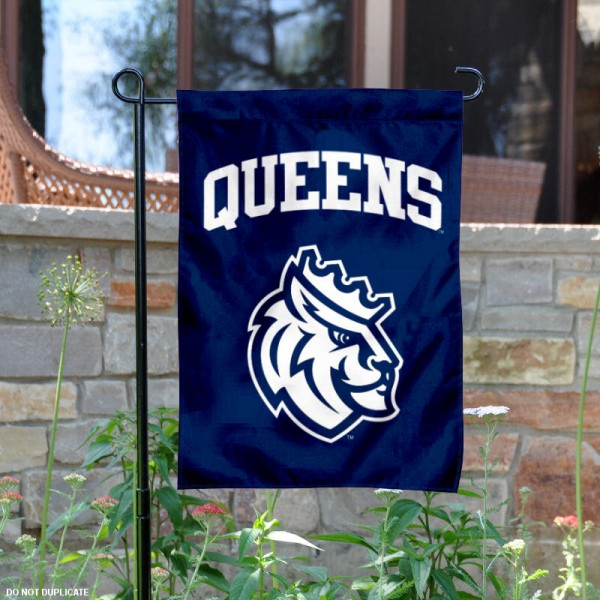 Queens Royals Garden Flag is 13x18 inches in size, is made of 2-layer polyester, screen printed university athletic logos and lettering. Available with Same Day Express Shipping, our Queens Royals Garden Flag is officially licensed and approved by the university and the NCAA.