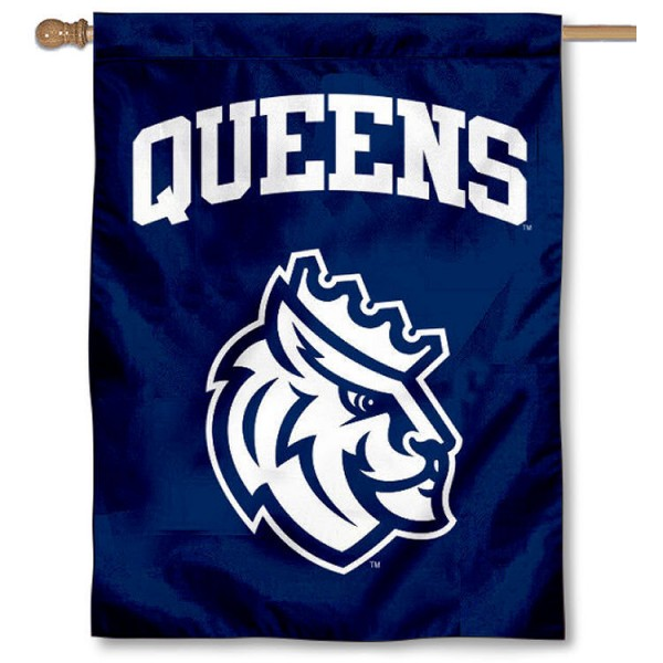 Queens Royals House Flag is a vertical house flag which measures 30x40 inches, is made of 2 ply 100% polyester, offers screen printed NCAA team insignias, and has a top pole sleeve to hang vertically. Our Queens Royals House Flag is officially licensed by the selected university and the NCAA.