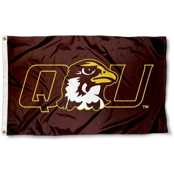 Quincy Hawks Flag measures 3'x5', is made of 100% poly, has quadruple stitched sewing, two metal grommets, and has double sided Team University logos. Our QU Hawks 3x5 Flag is officially licensed by the selected university and the NCAA.