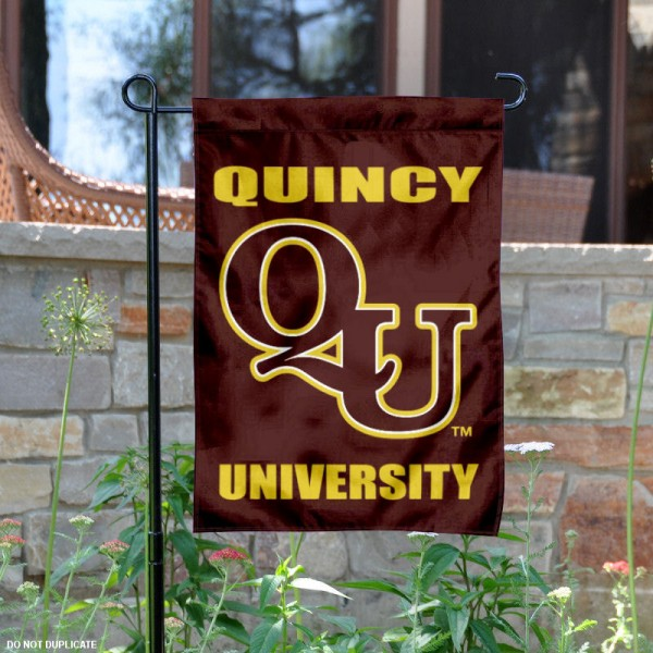 Quincy Hawks Logo Garden Flag is 13x18 inches in size, is made of 2-layer polyester with liner, screen printed athletic logos and lettering. Available with Same Day Overnight Express Shipping, Our Quincy Hawks Logo Garden Flag is officially licensed and approved by the university, college and the NCAA.