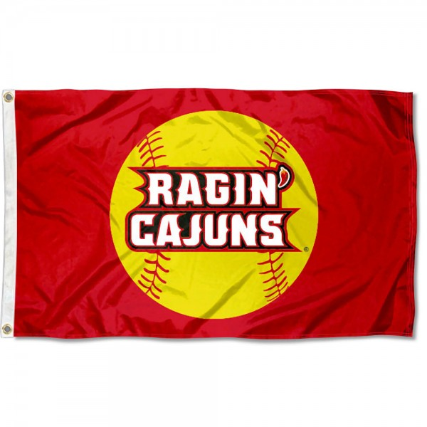 Ragin Cajuns Softball Flag measures 3'x5', is made of 100% poly, has quadruple stitched sewing, two metal grommets, and has double sided Team University logos. Our Ragin Cajuns Softball Flag is officially licensed by the selected university and the NCAA.