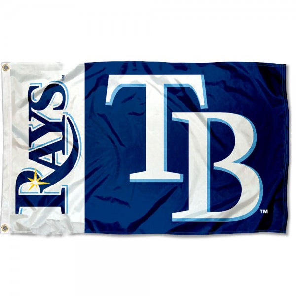 The Rays Outdoor Flag is four-stitched bordered, double sided, made of poly, 3'x5', and has two grommets. These Tampa Bay Rays Outdoor Flags are MLB Genuine Merchandise.