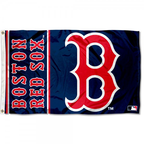 Our Red Sox B Logo Flag is double sided, made of poly, 3'x5', has two grommets, and four-stitched fly ends. These Red Sox B Logo Flags are Officially Licensed by the MLB.