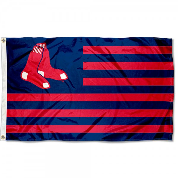 Red Sox Nation Flag measures 3x5 feet, is made of polyester, offers quad-stitched flyends, has two metal grommets, and is viewable from both sides with a reverse image on the opposite side. Our Red Sox Nation Flag is Genuine MLB Merchandise.
