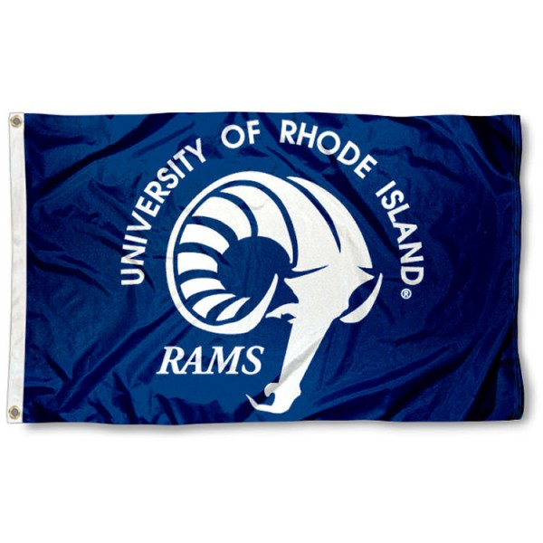 This Rhode Island Rams Flag measures 3'x5', is made of 100% nylon, has quad-stitched sewn flyends, and has two-sided Rhode Island Rams printed logos. Our Rhode Island Rams Flag is officially licensed and all flags for Rhode Island Rams are approved by the NCAA and Same Day UPS Express Shipping is available.