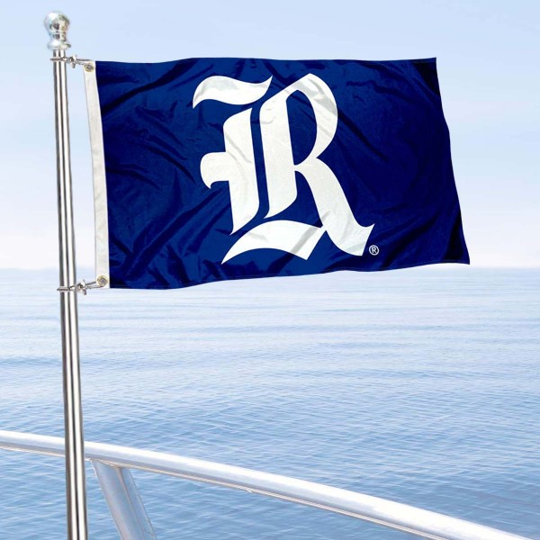 Rice Owls Boat and Mini Flag is 12x18 inches, polyester, offers quadruple stitched flyends for durability, has two metal grommets, and is double sided. Our mini flags for Rice University are licensed by the university and NCAA and can be used as a boat flag, motorcycle flag, golf cart flag, or ATV flag.